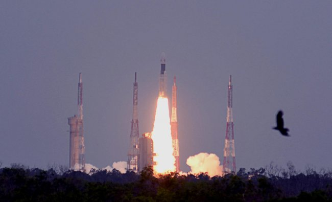 GSLV Mark III, the rocket that is being used for the Chandrayaan-2 mission takes off from Satish Dhawan Space Centre (SDSC) SHAR, Sriharikota (DH Photo/Pushkar V)