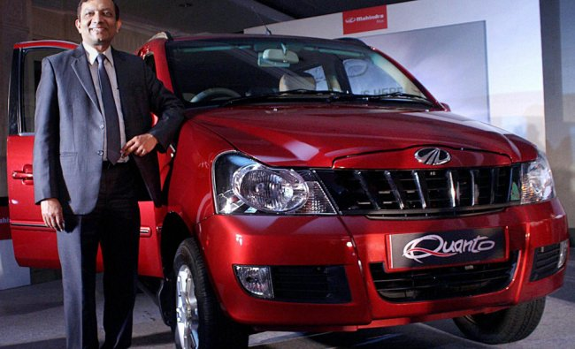 Pawan Goenka during the launch of their new SUV Quanto