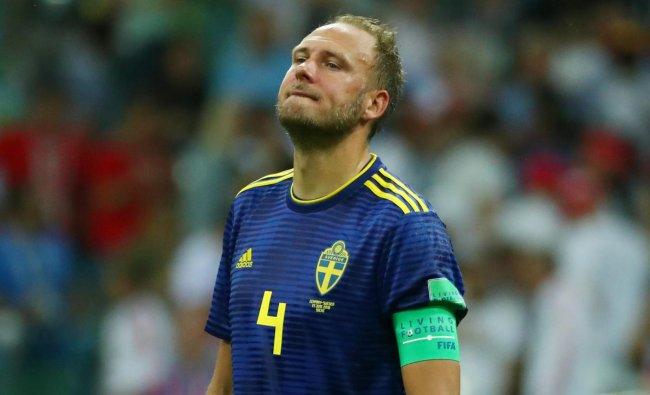 World Cup - Group F - Germany vs Sweden - Fisht Stadium, Sochi, Russia - June 23, 2018 Sweden\'s Andreas Granqvist looks dejected. Reuters