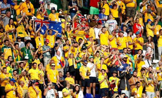 Denmark vs Australia - Samara Arena, Samara, Russia - June 21, 2018 Australia fans after the match REUTERS