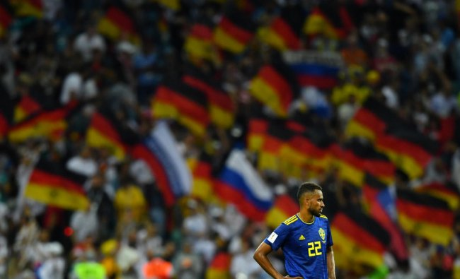 World Cup - Group F - Germany vs Sweden - Fisht Stadium, Sochi, Russia - June 23, 2018 Sweden\'s Isaac Kiese Thelin looks dejected after the match. Reuters