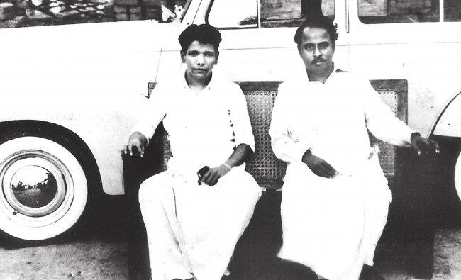 M Karunanidhi with his mentor C N Annadurai, founder of the DMK.