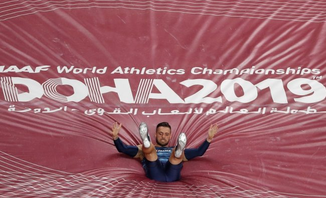 Khalifa International Stadium, Doha, Qatar. France\'s Valentin Lavillenie in action. (Reuters)