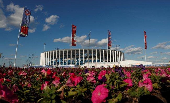 Nizhny Novgorod Stadium, Nizhny Novgorod, Russia - June 21, 2018 General view outside the stadium before the match REUTERS