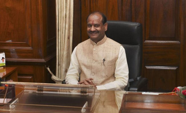Newly-elected Speaker for 17th Lok Sabha Om Birla takes charge at his office at Parliament, in New Delhi, Wednesday, June 19, 2019. PTI