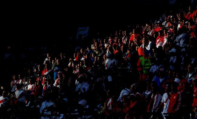 June 21, 2018 Peru fans during the match REUTERS