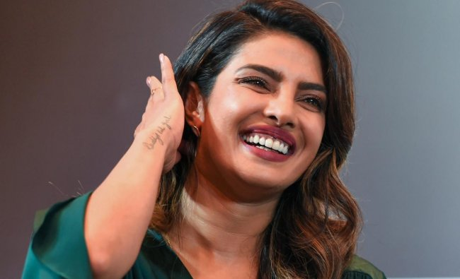 Bollywood actor Priyanka Chopra during an FLO talk on \'Challenging the Status Quo and Forging New Paths\' in New Delhi on Monday. PTI Photo