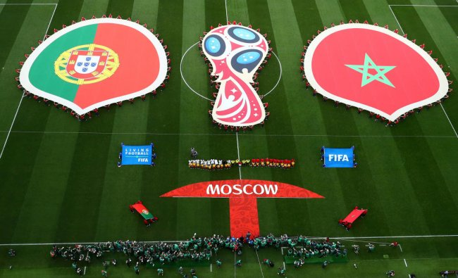 Soccer Football - World Cup - Group B - Portugal vs Morocco - Luzhniki Stadium, Moscow, Russia - June 20, 2018 General view before the match REUTERS