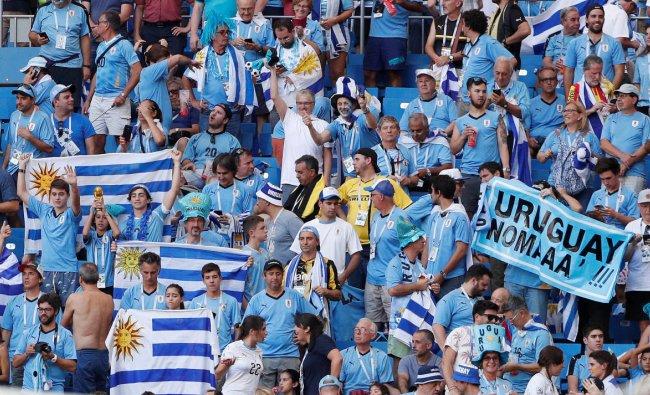 Soccer Football - World Cup - Group A - Uruguay vs Saudi Arabia - Rostov Arena, Rostov-on-Don, Russia - June 20, 2018 Uruguay fans inside the stadium before the match REUTERS
