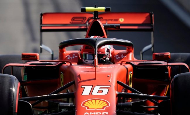 Ferrari\'s Monegasque driver Charles Leclerc competes during the qualifying session at the Spa-Francorchamps circuit in Spa on August 31, 2019 ahead of the Belgian Formula One Grand Prix. (AFP Photo)