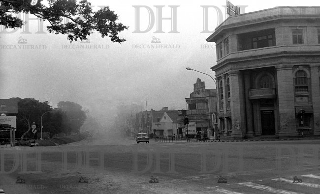 MG Road on a foggy morning (1978)