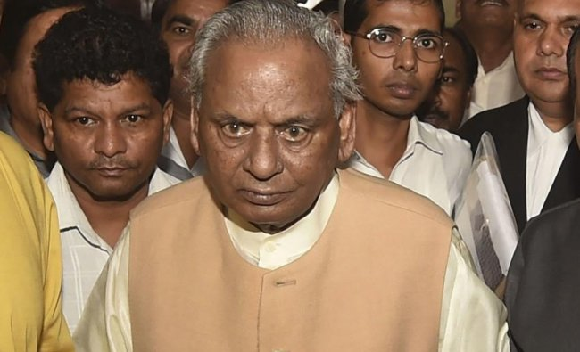 Kalyan Singh   According to reports, former Uttar Pradesh chief minister Kalyan Singh has been named in the charge sheet for allegedly helping protesters and Hindu right-wing activists during riots. Credit: PTI