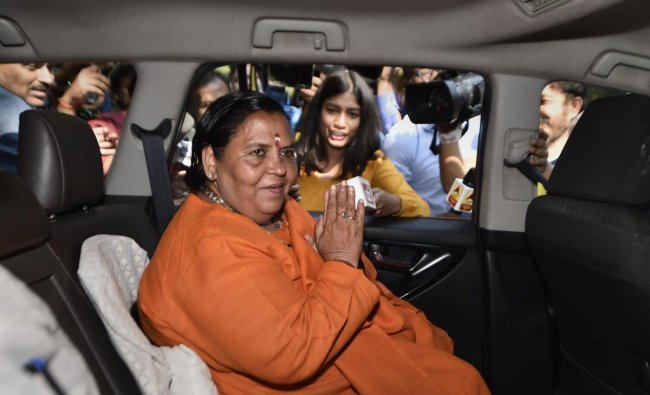 Uma Bharti   Former Chief Minister of Madhya Pradesh, Uma Bharti, was one of the major figures of the Sangh Parivar who was present at the Ayodhya rally that turned into a riot. She was charged with conspiring the demolition of the Babri Masjid. Credit: PTI