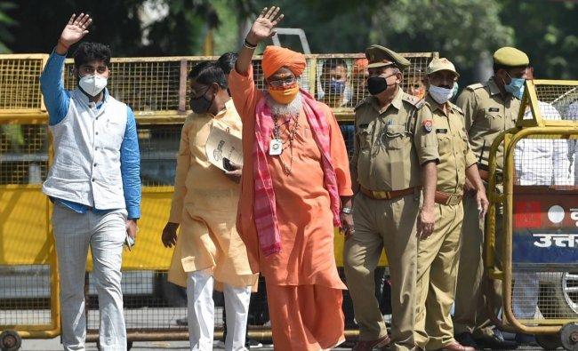 Sakshi Maharaj   BJP MP Sakshi Maharaj was charged with conspiring the demolition of Babri Masjid. Credit: PTI
