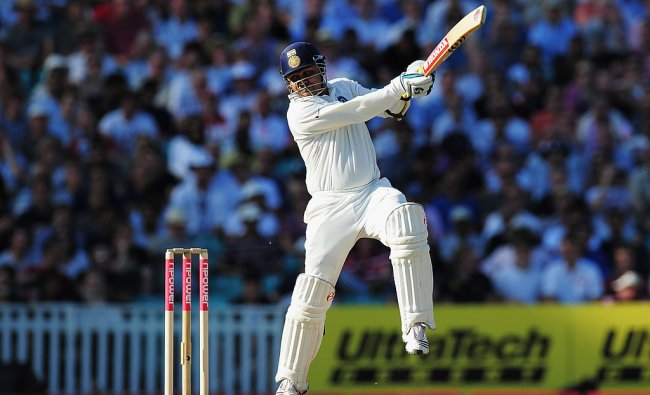 Virender Sehwag scored more than 50% of the team\'s total and the knock is still regarded as one of the best innings played by an Indian batsman in Australia. Credit: Getty Images