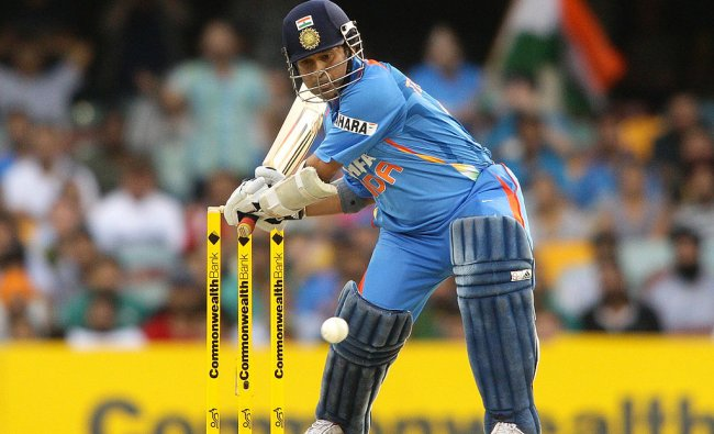 It was the first final of the 2008 Commonwealth Bank Series. As Sachin Tendulkar has done so many times in his career, he single-handedly dismantled the Aussie bowling and guided India home with an unbeaten 117 off 120 balls. Credit: Getty Images