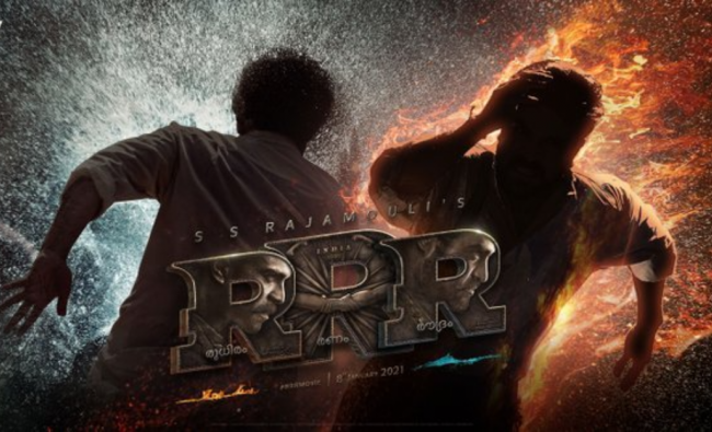 RRR | The SS Rajamouli-directed \'Rise Roar Revolt\' (RRR) is a period drama that revolves around the fictional adventures of two real freedom fighters. The film, touted to be \'bigger than the Baahubali franchise\', features Jr NTR and Ram Charan as the parallel leads and marks the first collaboration between the Tollywood heroes. The pan-India biggie has a stellar cast that includes Ajay Devgn, Alia Bhatt, Olivia Morris and Shriya Saran. Credit:Twitter/@RRRMovie