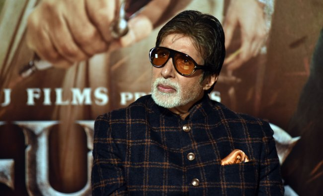 Veteran actor Amitabh Bachchan is in the ninth spot valued at $44.2 million. Credit: AFP Photo