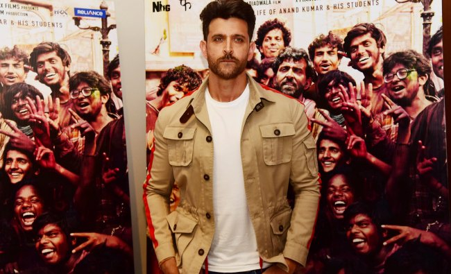 Actor Hrithik Roshan is ranked 10th, with a brand value of $39.4 million. Credit: AFP Photo