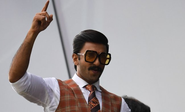 Actor Ranveer Singh also retains his third position again for the second year, with a brand value of $02.9 million. Credit: AFP Photo