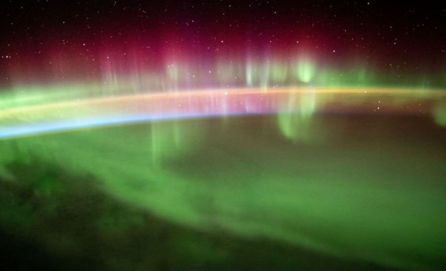 International Space Station (ISS) has shared a series of astonishing pictures from the magical aurora or the northern lights. Credit: Instagram/ISS