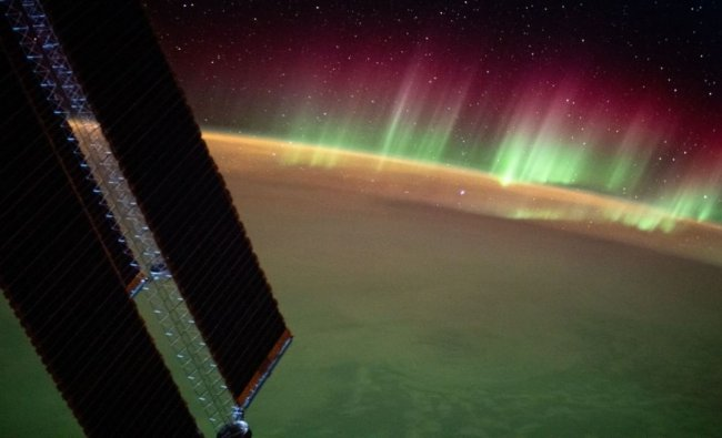 """Captioning the post, ISS wrote - """"The aurora australis is spectacular in these views from the station above the Indian Ocean in between Asia and Antarctica."""" Credit: Instagram/ISS"""