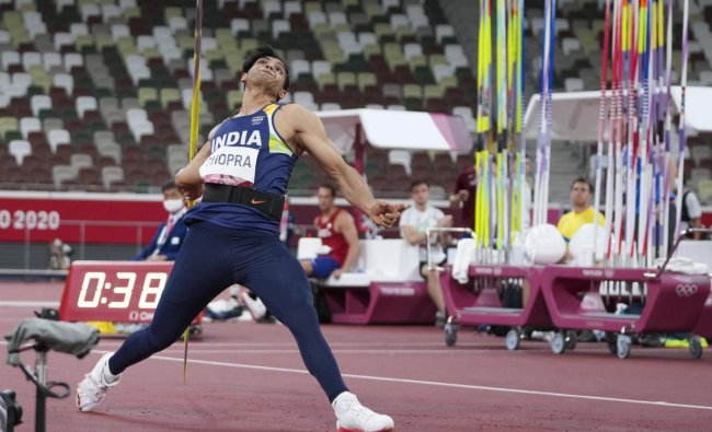 He broke the national record with a throw of 87.43m at the Doha Diamond League in 2018. Credit: AP Photo