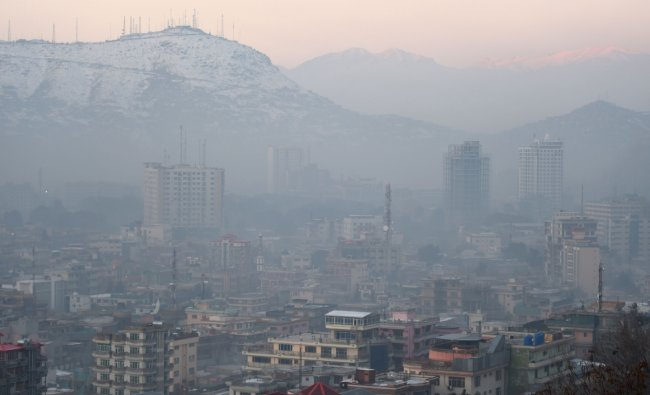 Afghanistan features fourth in the list with an average PM2.5 concentration of 58.80. Credit: AFP Photo