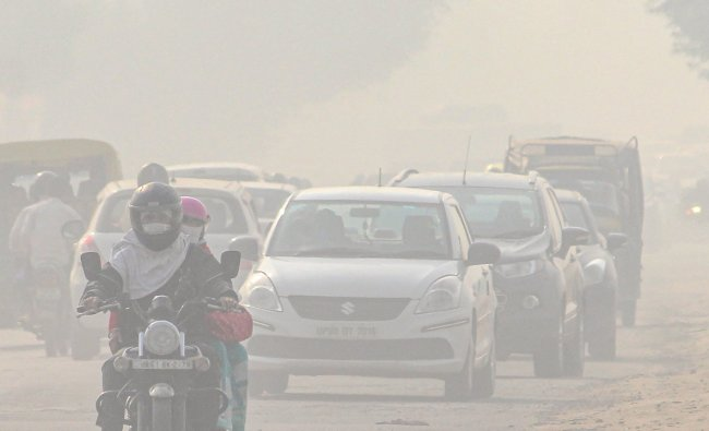 The fifth most polluted country in the world is India. It has an average PM2.5 concentration of 50.08. Credit: PTI Photo