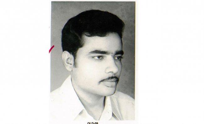 A photo of young Narendra Modi. Credit: NaMo App