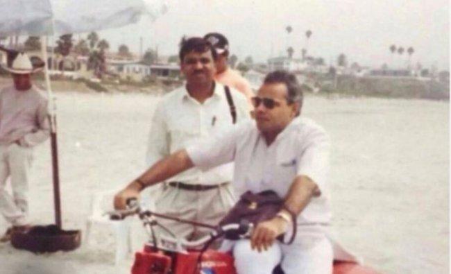 Narendra Modi enjoying an ATV bike ride during his visit to the USA in 1993. Credit: NaMo App