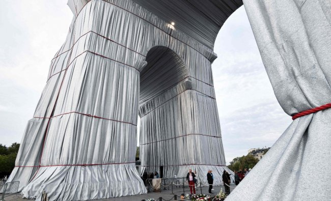 Those climbing the 50 meters to the top will step on it when they reach the roof terrace. Credit: AFP Photo