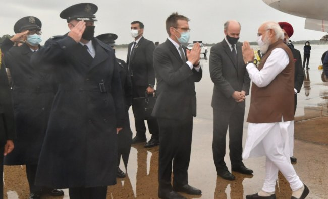 Modi said his visit would be an occasion to strengthen the Indo-US Comprehensive Global Strategic Partnership and consolidate ties with Japan and Australia. Credit: Twitter/@narendramodi