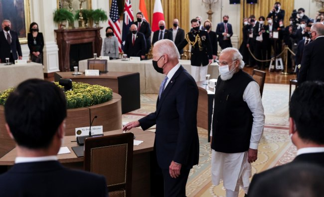 Prime Minister Narendra Modi met US President Joe Biden at the White House for bilateral meeting on September 24, 2021. Credit: Reuters Photo