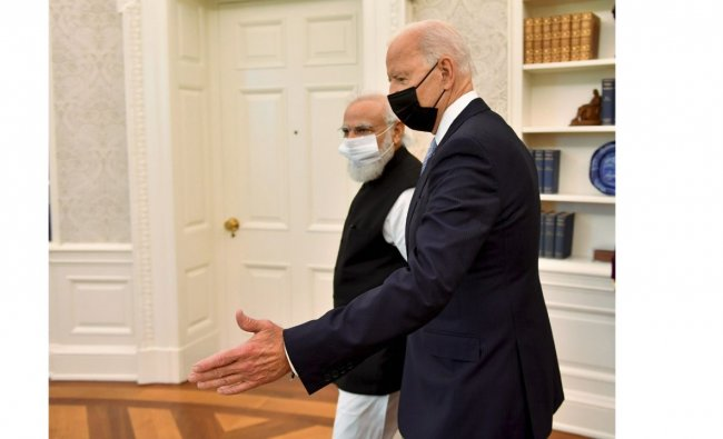 While the two leaders have met earlier when Biden was the Vice President of the country, this is for the first time that Biden is meeting Modi after he became the 46th President of the US in January. Credit: PTI Photo