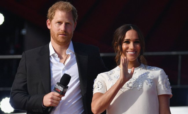Britain\'s Prince Harry and Meghan, the Duchess of Sussex, met Saturday with a top UN official amid the world body\'s biggest gathering of the year. Credit: AP Photo