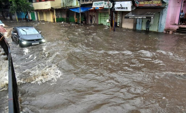 Telangana CM K Chandrashekhar Rao ordered to shut all government offices, including schools, colleges and educational institutions in the State till September 28 due to heavy rains. Credit: PTI Photo