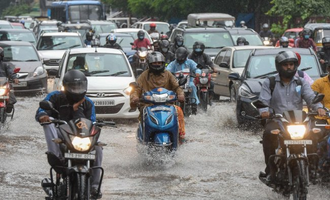 Cyclone Gulab triggers heavy rains in Telangana, IMD issues red alert to 14 districts Credit: AFP Photo