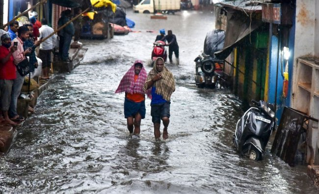 The IMD, which issued a red alert to 14 districts of the State, warned of heavy to very heavy rain with extremely heavy rain that are very likely to occur at isolated places in Nirmal, Nizamabad, Jagityal, Rajanna Sircilla, Karimnagar, Peddapally, Bhadradri Kothagudem, Khammam, Mahabubabad, Warangal (Rural), Warangal (Urban), Janagaon, Siddipet, Kamareddy districts today. Credit: PTI Photo