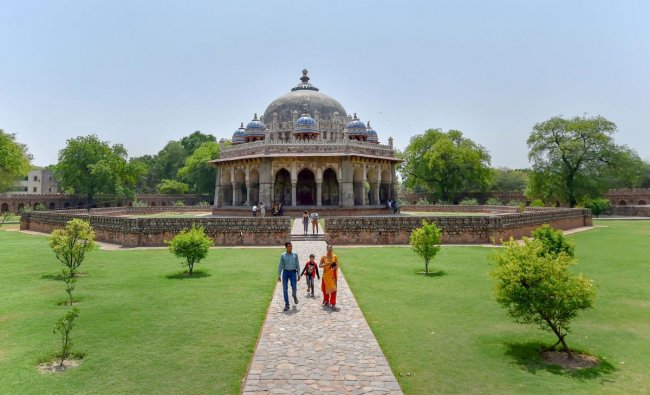 Isa Khan tomb complex, a walled area adjacent to Humayun\'s Tomb and resting place of Isa Khan Niyazi, in New Delhi on Tuesday. Archaeological Survey of India has announced that there will be no entry fee into the monuments on International Day for Monuments and Sites on April 18. PTI