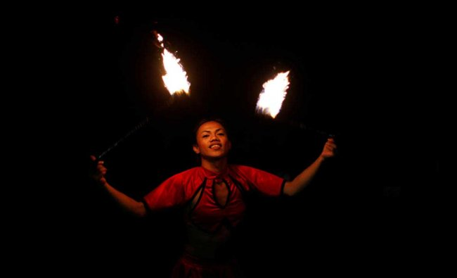 A Filipino dancer performs on Boracay island in Philippines. Reuters Photo