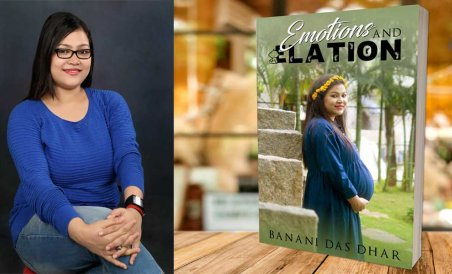 Banani Das with her book 'Emotions and Elation'