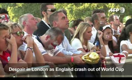 England fans 'gutted' after defeat in WC semi-final