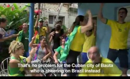 Cuban city of Bauta goes wild for Brazil at WC