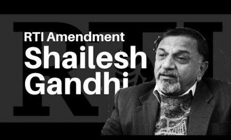 Shailesh Gandhi: RTI amendment is unconstitutional