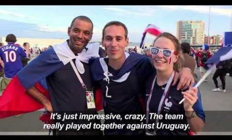 Fans sing and dance as France books WC semi-final spot