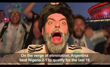 Fans react after Argentina take Nigeria out of WC