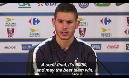 France's Lucas Hernandez says Belgium clash a toss-up