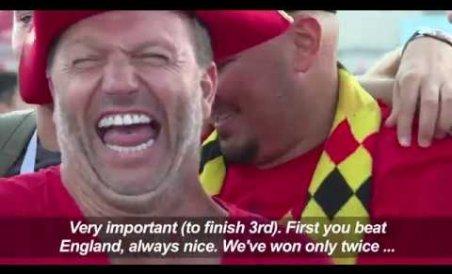 Belgium fans 'proud,' England fans 'optimistic'
