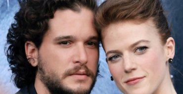 Actors Kit Harington and Rose Leslie, image courtesy Twitter